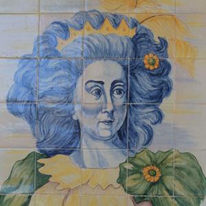 Luísa Todi, painel de António Conde junto à Praça de Bocage em Setúbal