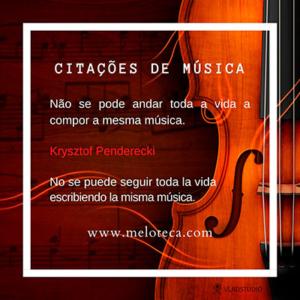 Penderecki e a composição musical