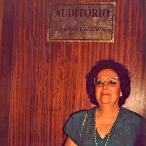 Adelina Caravana, homenageada em 1991 pelo Conservatório de Música Calouste Gulbenkian de Braga