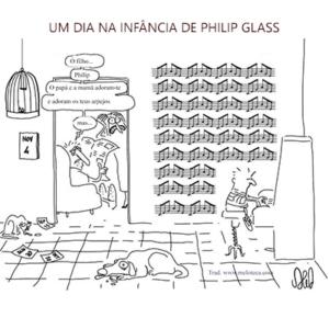 Um dia na infância de Philip Glass