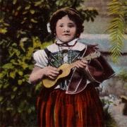Criança com machete, postal ilustrado, Portugal, Madeira - Funchal, c. século XIX / XX