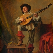 Soldado tocando tiorba, Ernest Meissonier, The Metropolitan Museum of Art