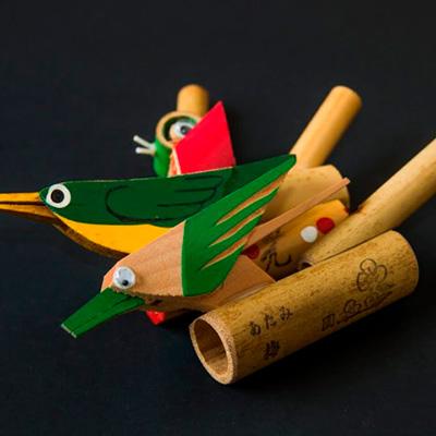Bush wabler whistle, aerofone do Japão