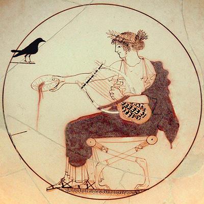 Apolo com a sua Chelys