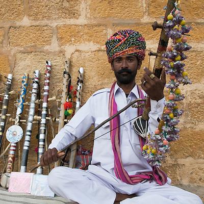 Chikara, cordofone de arco, Índia