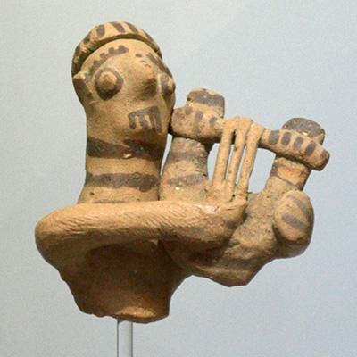 Forminx, cordofone dedilhado, Grécia Antiga