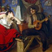 Guitarra portuguesa, O Fado, José Malhoa, 1910