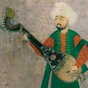 Kopuz, músico otomano tocando