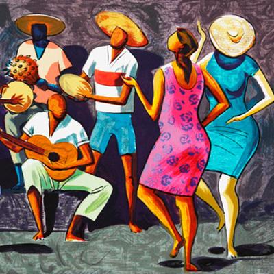 Roda de Samba, artista Caribé