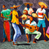 Roda de Samba, artista Caribé, pormenor