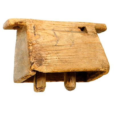 Skrabalas, idiofone de madeira da Lituânia