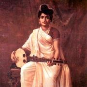 Swarabat, Índia, pintura de Raja Ravi Varma, Malabar Lady