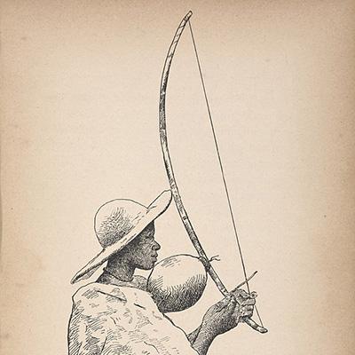 Thomo, arco musical da tribo Basotho, na África do Sul