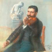 José Relvas tocando violino, José Malhoa, 1898