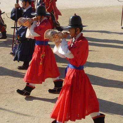Sora, ou nagak, búzio musical, Coreia
