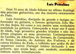 Luís Petrolino, guitarrista natural de Setúbal