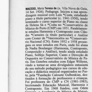 Teresa de Macedo, pedagoga natural de Gaia