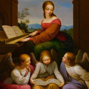 Santa Cecília de Johann Scheffer von Leonhardshof (Áustria, 1795-1822)