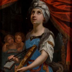 Santa Cecília, por anónimo bolonhês do século XVII