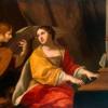 Santa Cecília ao órgão, com anjo, de Jacques Blanchard