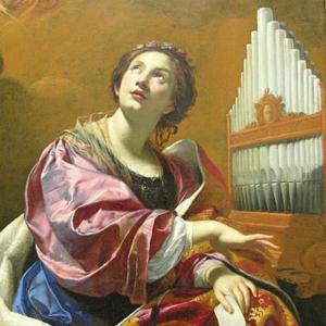 Santa Cecília, de Simon Vouet, Blanton Museum of Art