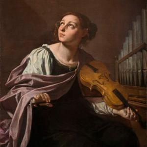 Santa Cecília, Simone Cantarini (Itália, 1612-1648)