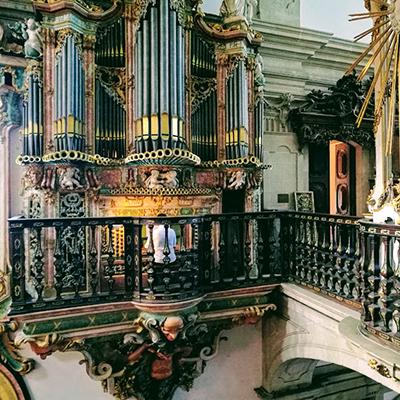 Nuno Mimoso. Órgão histórico do Mosteiro de São Miguel de Refojos de Basto. Registo Fotográfico Meloteca 2017 (Órgão Histórico de Francisco António Solha, constr. 1770).