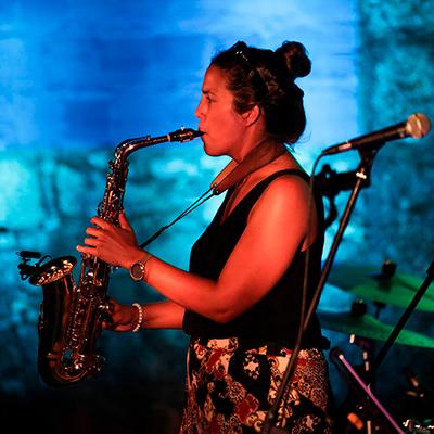 Ana Leite de Faria, saxofonista, de Braga