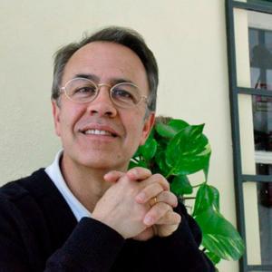 Luís Henrique, professor e autor, bar do CMP, 2004, foto Olavo Tengner Barros
