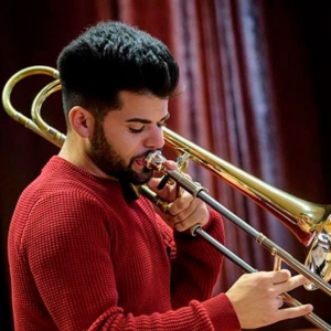 André Melo, trombone, de Oliveira de Azeméis